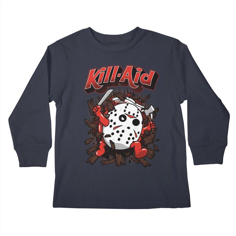 Kill-Aid Rotten Strawberry Flavor Kids Longsleeve T-Shirt by Pigboom's Artist Shop