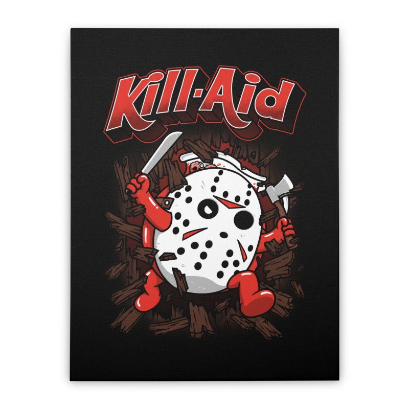 Kill-Aid Rotten Strawberry Flavor Home Stretched Canvas by Pigboom's Artist Shop