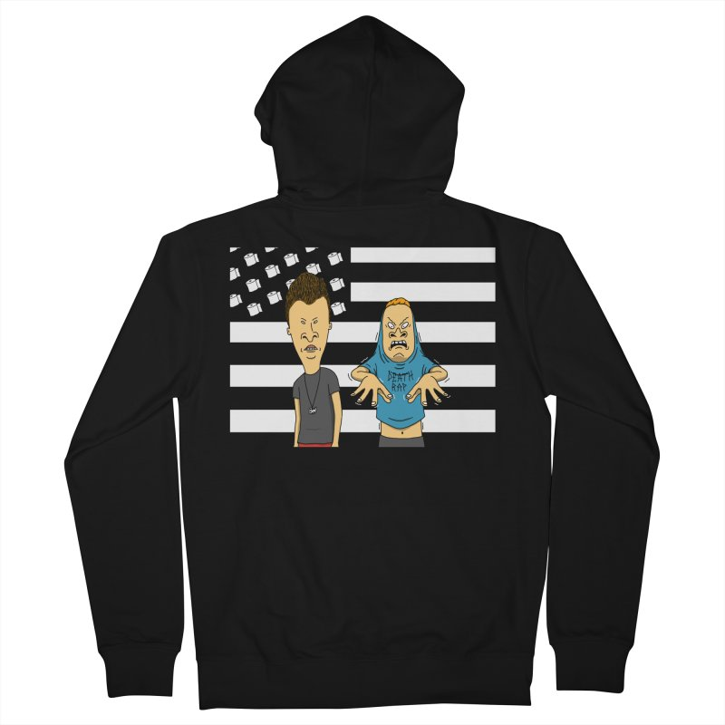 Cornholia Men's French Terry Zip-Up Hoody by Pigboom's Artist Shop