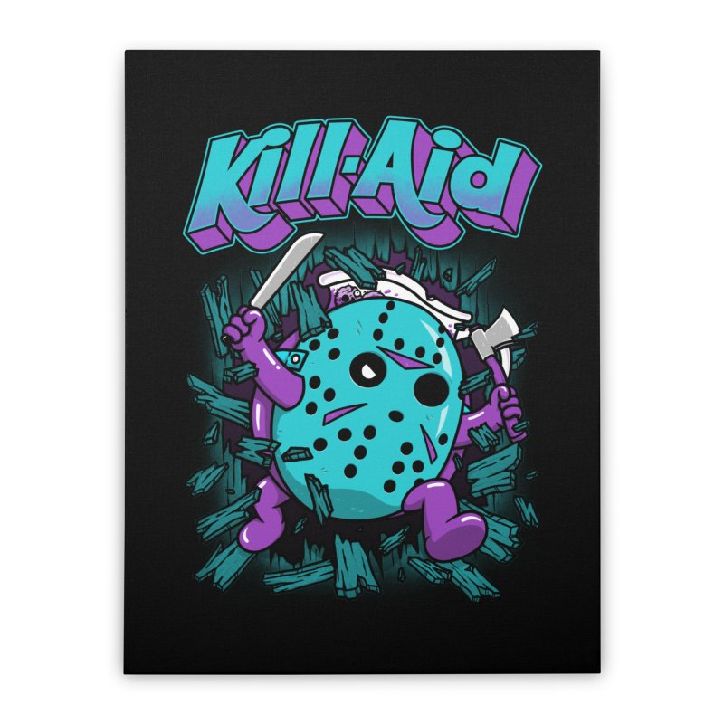 Kill-Aid Rotten Grape Flavor Home Stretched Canvas by Pigboom's Artist Shop