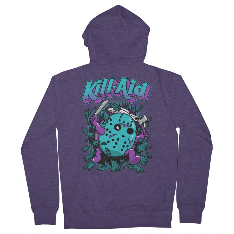 Kill-Aid Rotten Grape Flavor Men's French Terry Zip-Up Hoody by Pigboom's Artist Shop
