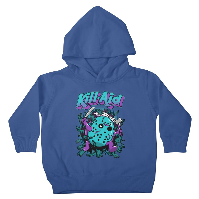 Kill-Aid Rotten Grape Flavor Kids Toddler Pullover Hoody by Pigboom's Artist Shop