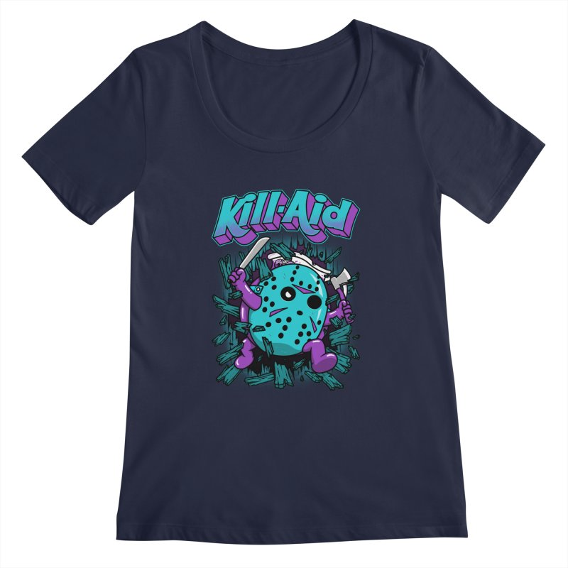 Kill-Aid Rotten Grape Flavor Women's Regular Scoop Neck by Pigboom's Artist Shop