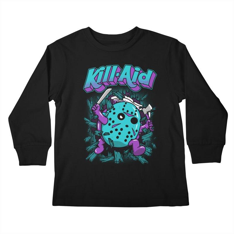 Kill-Aid Rotten Grape Flavor Kids Longsleeve T-Shirt by Pigboom's Artist Shop
