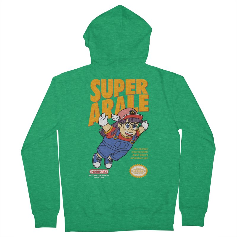 Super Android Girl Men's French Terry Zip-Up Hoody by Pigboom's Artist Shop