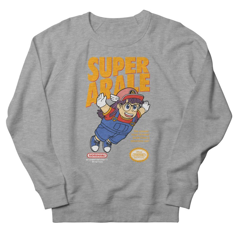 Super Android Girl Men's French Terry Sweatshirt by Pigboom's Artist Shop