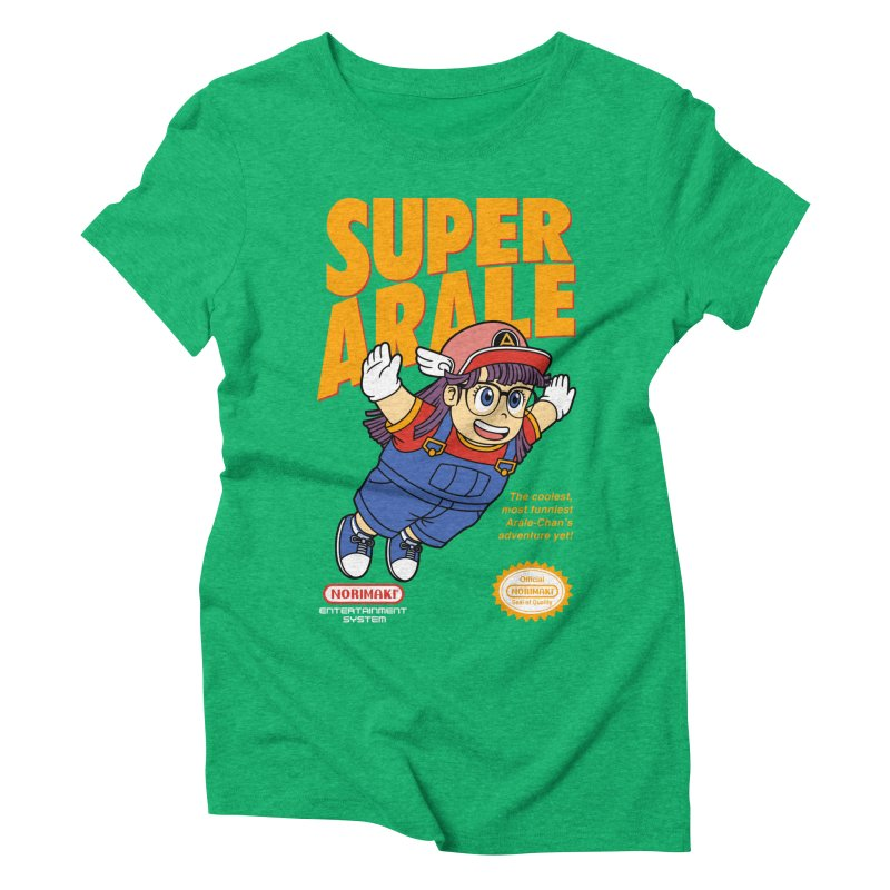 Super Android Girl Women's Triblend T-Shirt by Pigboom's Artist Shop