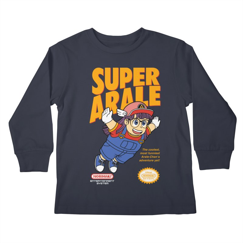 Super Android Girl Kids Longsleeve T-Shirt by Pigboom's Artist Shop