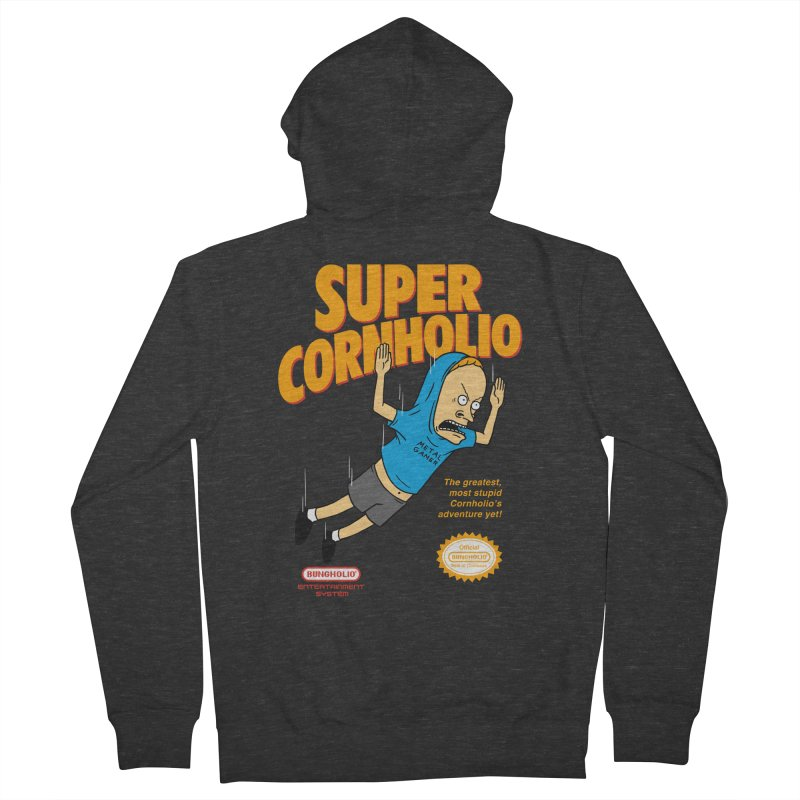 Super Cornholio Men's French Terry Zip-Up Hoody by Pigboom's Artist Shop