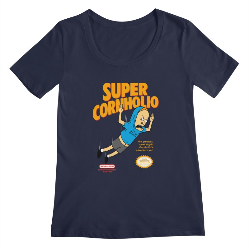 Super Cornholio Women's Regular Scoop Neck by Pigboom's Artist Shop
