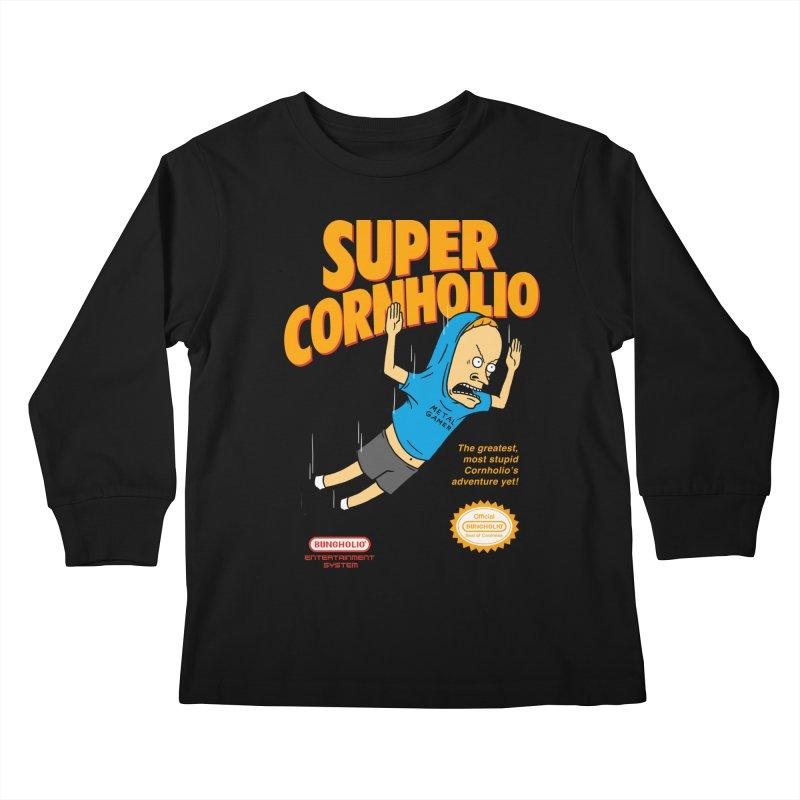 Super Cornholio Kids Longsleeve T-Shirt by Pigboom's Artist Shop