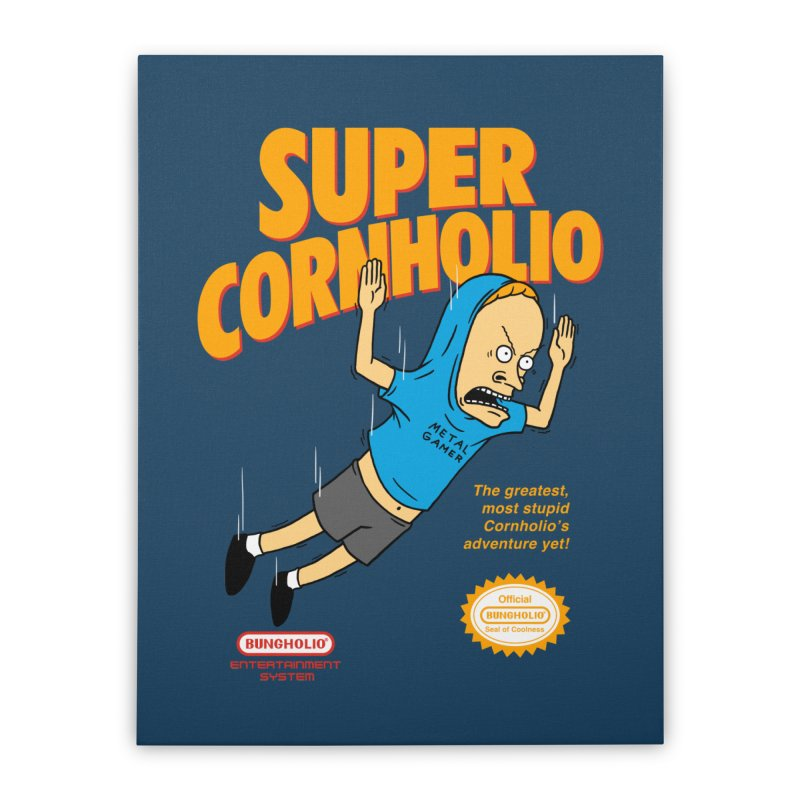 Super Cornholio Home Stretched Canvas by Pigboom's Artist Shop