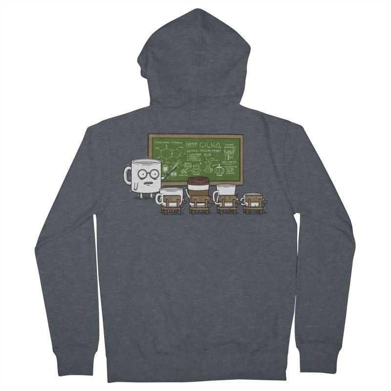 Coffee Lessons Men's French Terry Zip-Up Hoody by Pigboom's Artist Shop