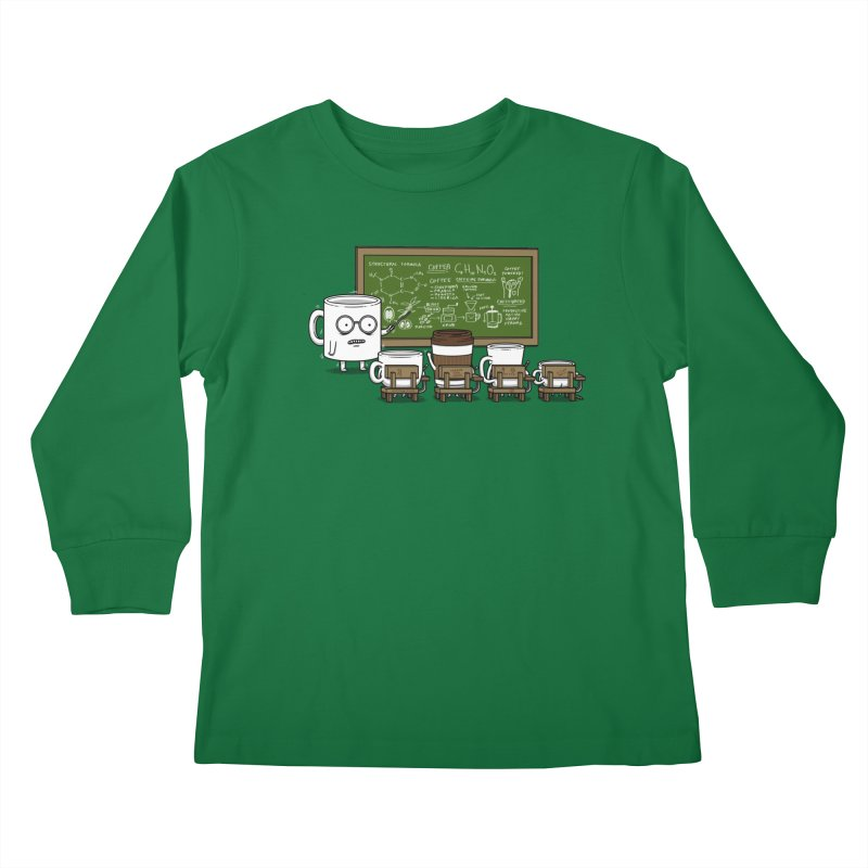 Coffee Lessons Kids Longsleeve T-Shirt by Pigboom's Artist Shop