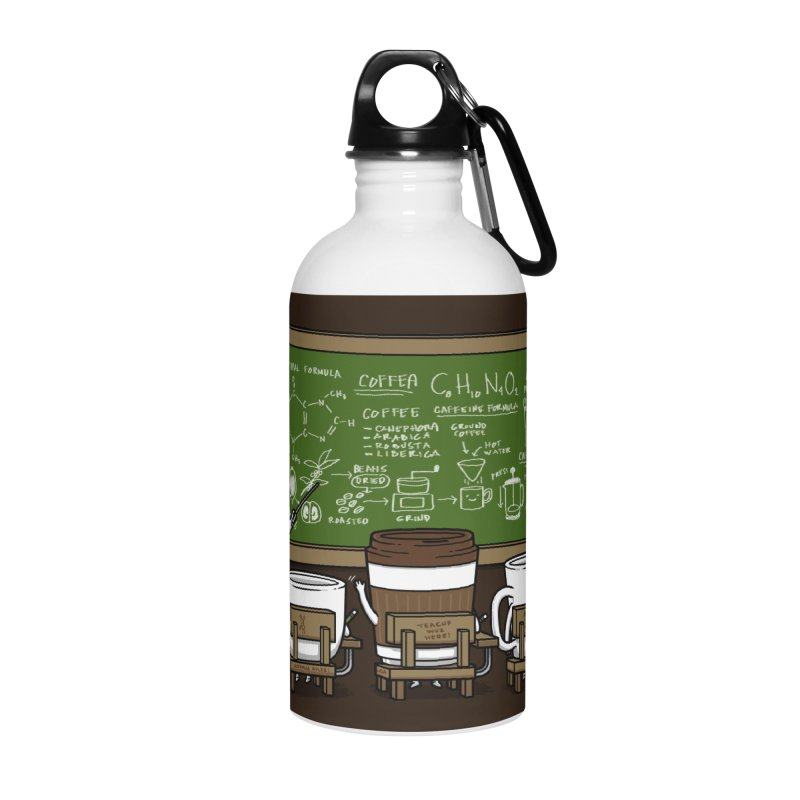 Coffee Lessons Accessories Water Bottle by Pigboom's Artist Shop