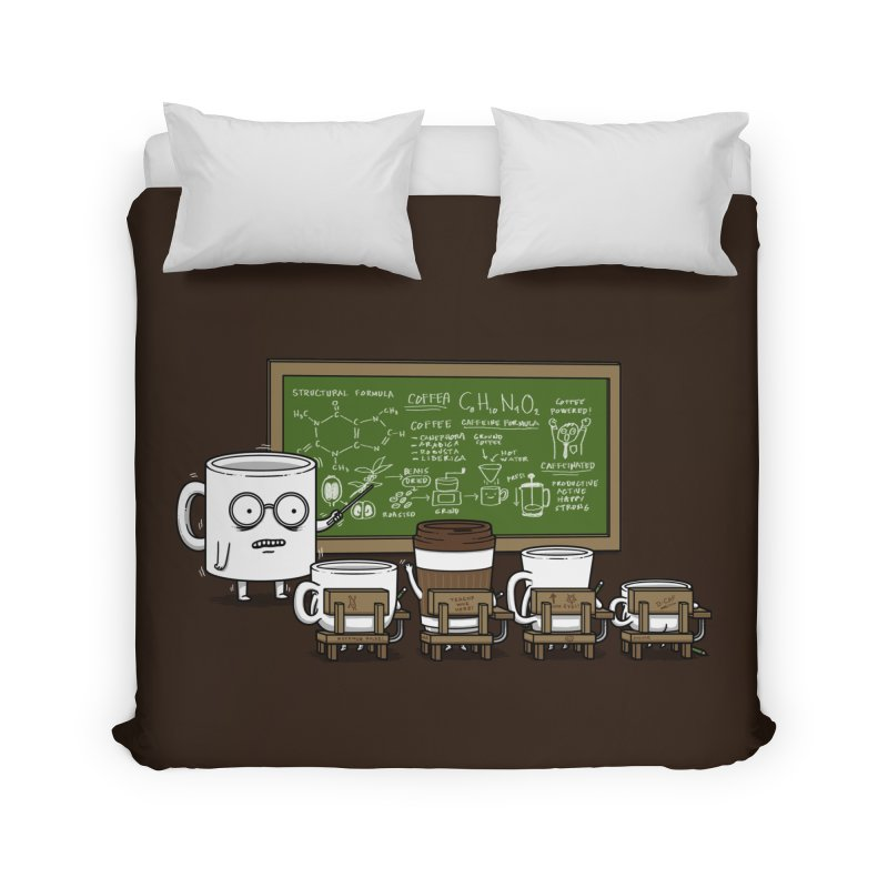 Coffee Lessons Home Duvet by Pigboom's Artist Shop