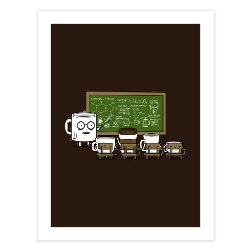 Coffee Lessons Home Fine Art Print by Pigboom's Artist Shop