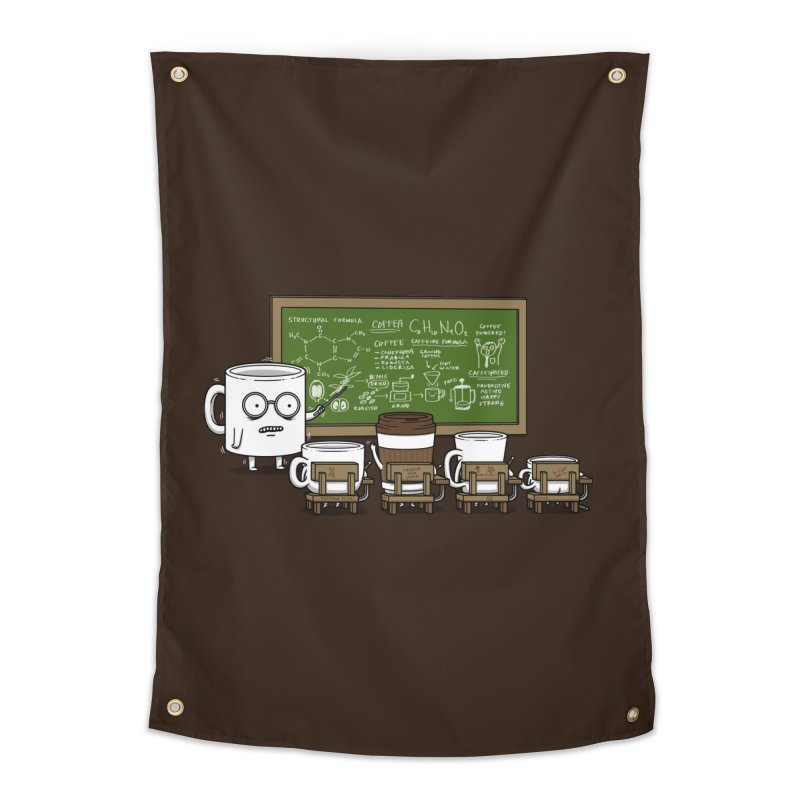 Coffee Lessons Home Tapestry by Pigboom's Artist Shop