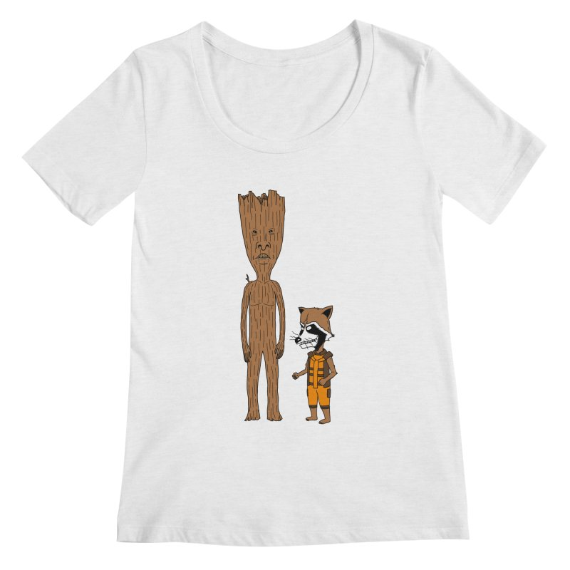 Stupid Guardians Women's Regular Scoop Neck by Pigboom's Artist Shop