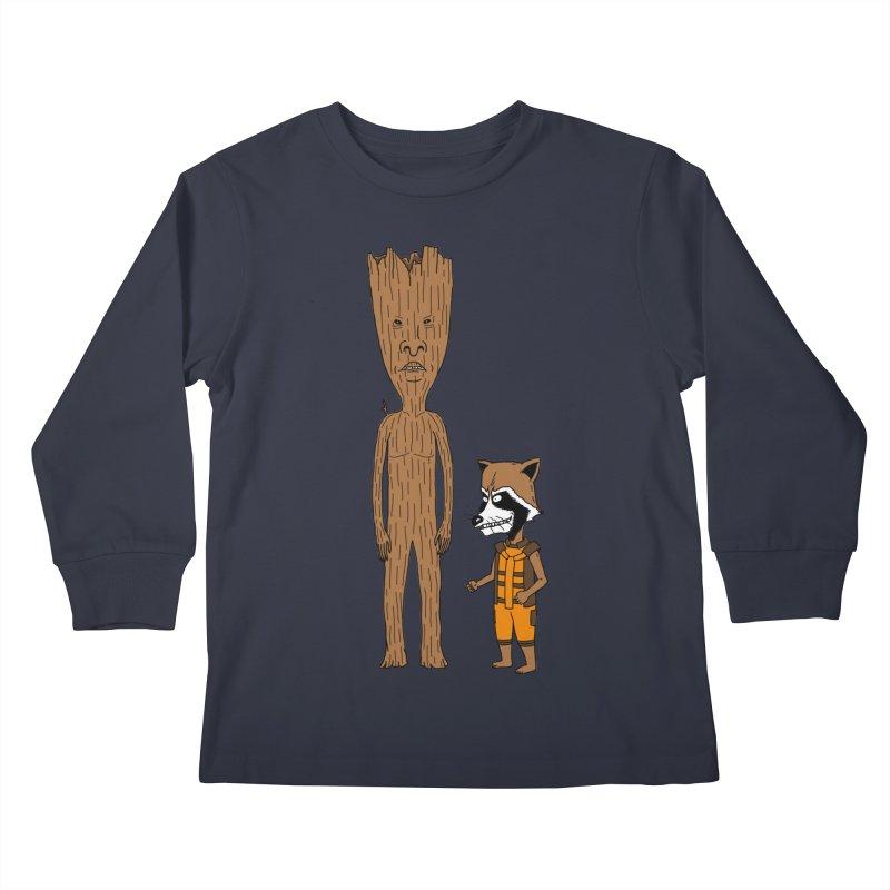 Stupid Guardians Kids Longsleeve T-Shirt by Pigboom's Artist Shop