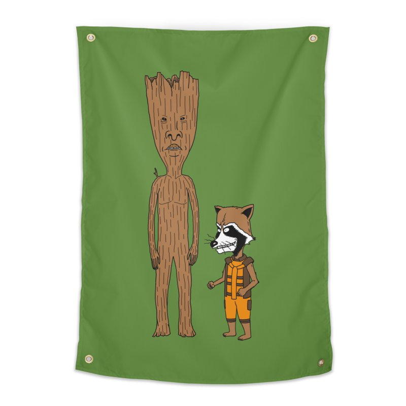 Stupid Guardians Home Tapestry by Pigboom's Artist Shop