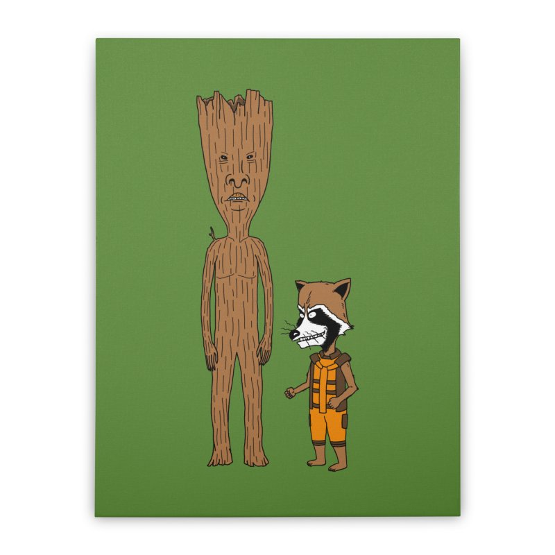 Stupid Guardians Home Stretched Canvas by Pigboom's Artist Shop