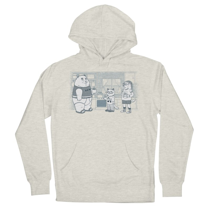 Morning Coffee Club Women's French Terry Pullover Hoody by Pigboom's Artist Shop