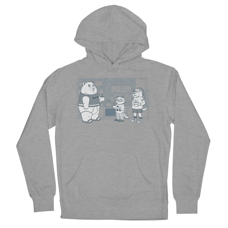 Morning Coffee Club Men's French Terry Pullover Hoody by Pigboom's Artist Shop