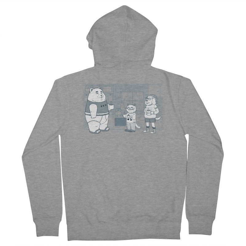 Morning Coffee Club Men's French Terry Zip-Up Hoody by Pigboom's Artist Shop