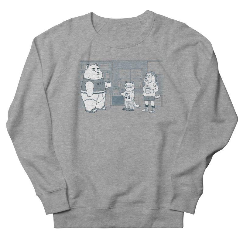 Morning Coffee Club Men's French Terry Sweatshirt by Pigboom's Artist Shop