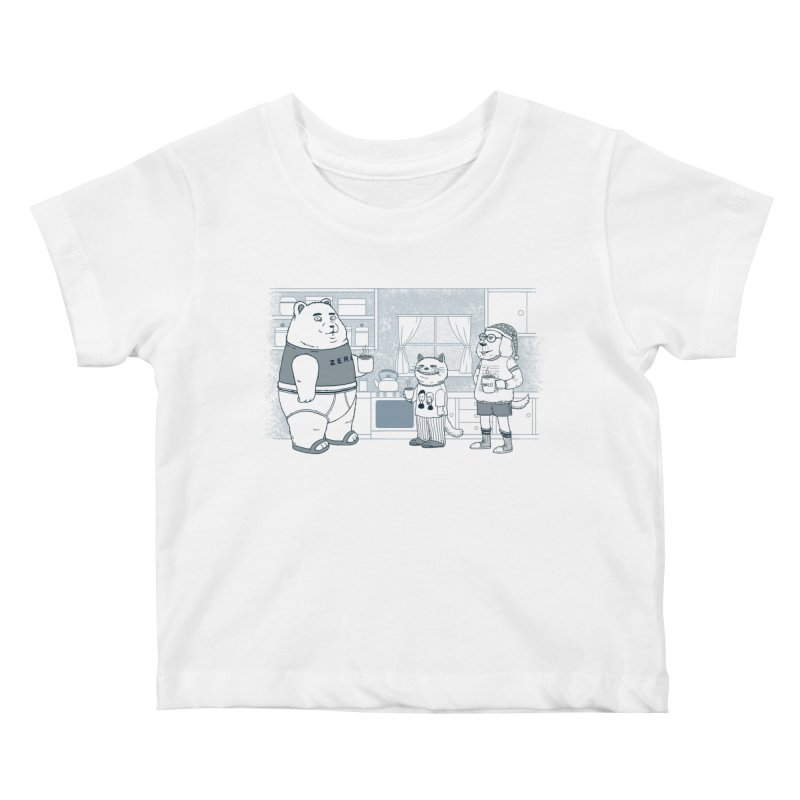 Morning Coffee Club Kids Baby T-Shirt by Pigboom's Artist Shop