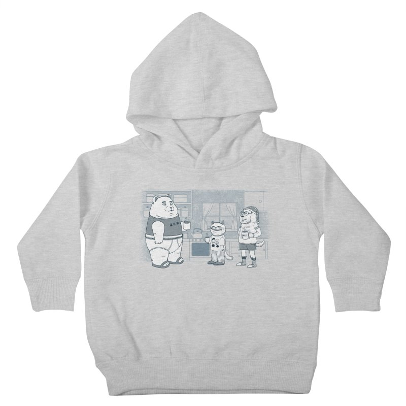 Morning Coffee Club Kids Toddler Pullover Hoody by Pigboom's Artist Shop