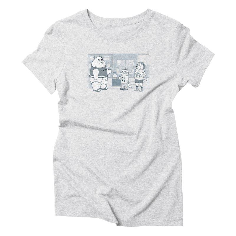 Morning Coffee Club Women's Triblend T-Shirt by Pigboom's Artist Shop