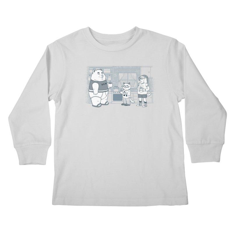 Morning Coffee Club Kids Longsleeve T-Shirt by Pigboom's Artist Shop