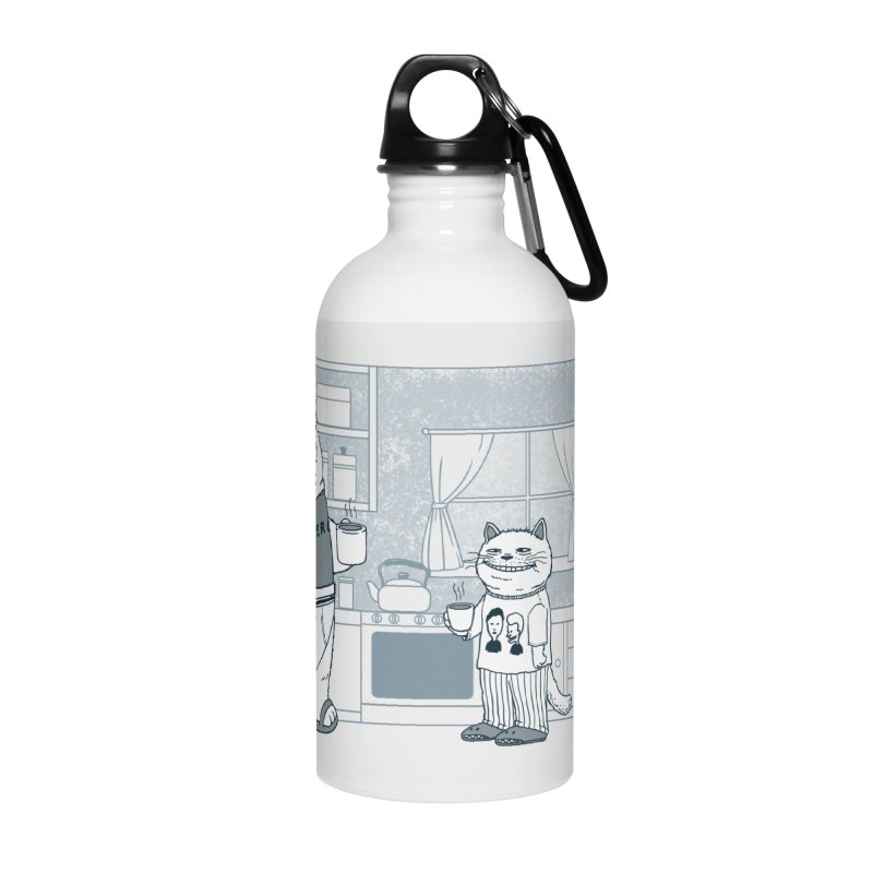 Morning Coffee Club Accessories Water Bottle by Pigboom's Artist Shop