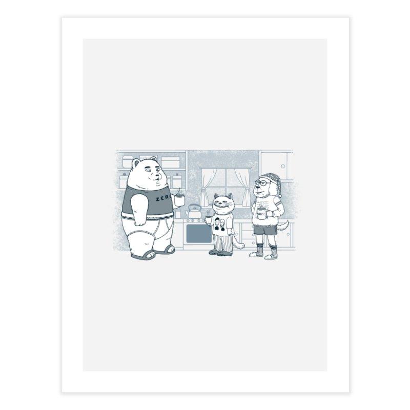 Morning Coffee Club Home Fine Art Print by Pigboom's Artist Shop