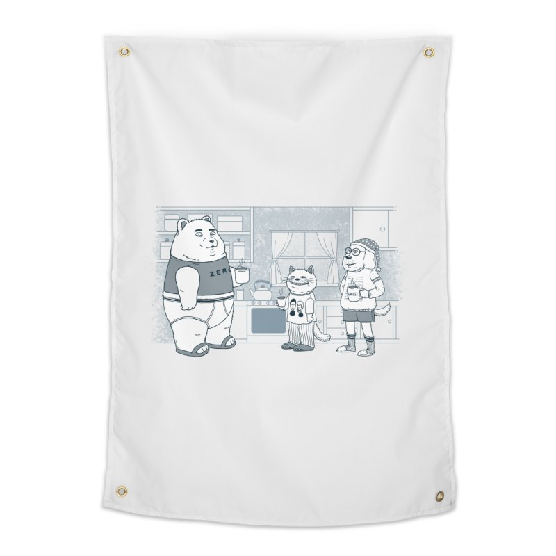 Morning Coffee Club Home Tapestry by Pigboom's Artist Shop