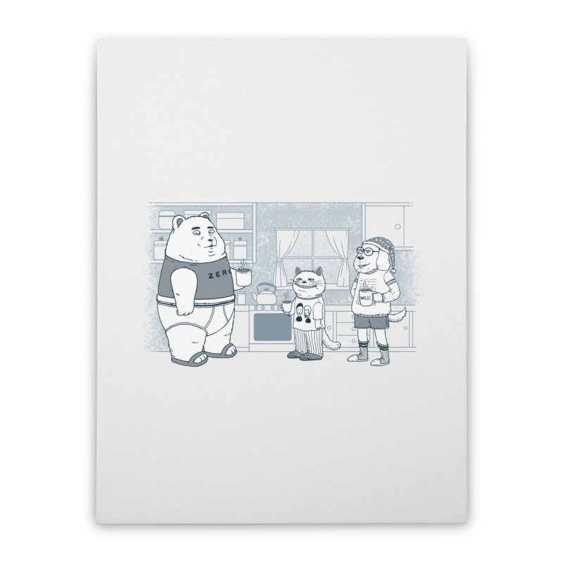 Morning Coffee Club Home Stretched Canvas by Pigboom's Artist Shop