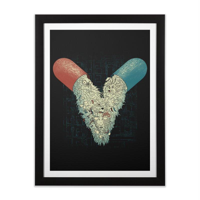 Capsuled Nightmare Home Framed Fine Art Print by Pigboom's Artist Shop