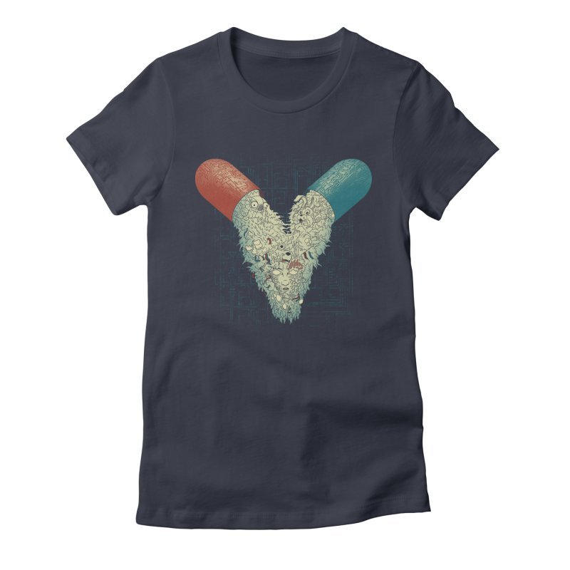 Capsuled Nightmare Women's Fitted T-Shirt by Pigboom's Artist Shop