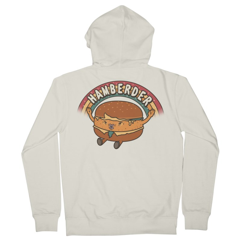 Hamberder Men's French Terry Zip-Up Hoody by Pigboom's Artist Shop
