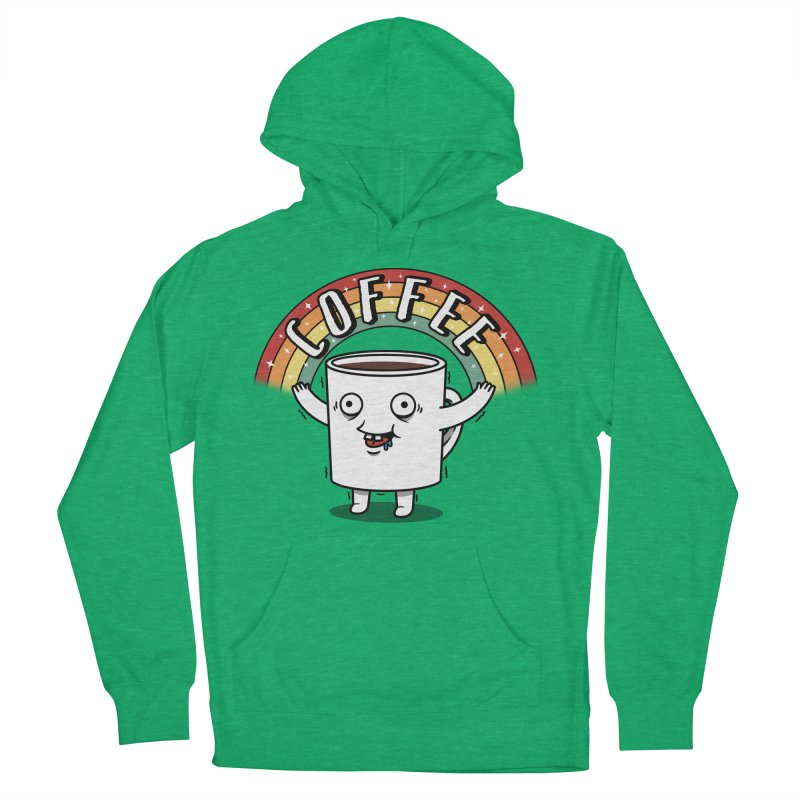 Start the day with Coffee Men's French Terry Pullover Hoody by Pigboom's Artist Shop