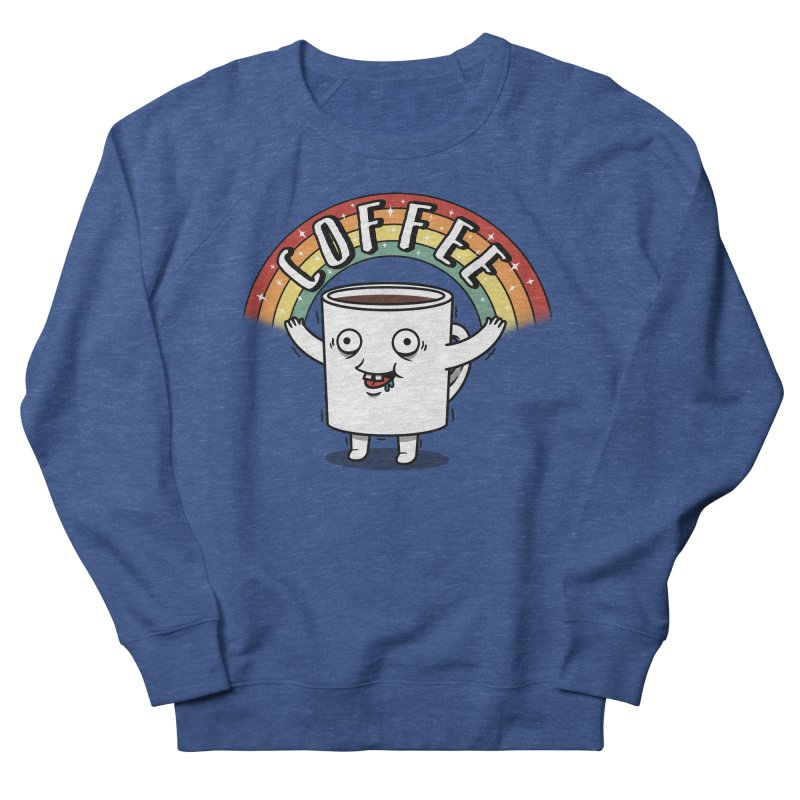 Start the day with Coffee Men's French Terry Sweatshirt by Pigboom's Artist Shop