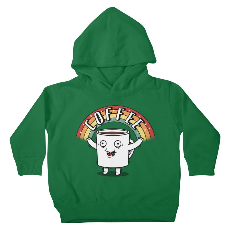 Start the day with Coffee Kids Toddler Pullover Hoody by Pigboom's Artist Shop
