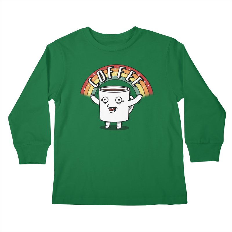 Start the day with Coffee Kids Longsleeve T-Shirt by Pigboom's Artist Shop