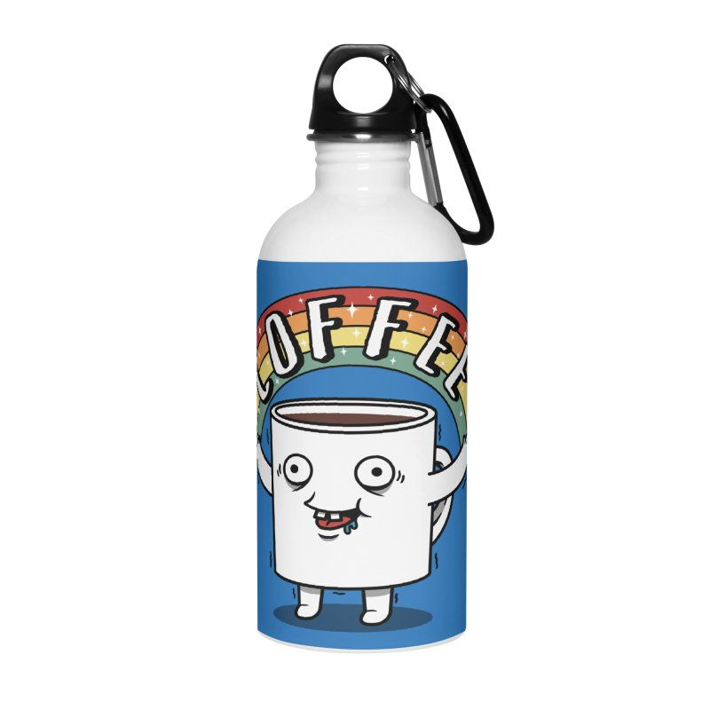 Start the day with Coffee Accessories Water Bottle by Pigboom's Artist Shop