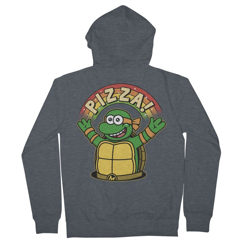 As long as we have Pizza! Men's French Terry Zip-Up Hoody by Pigboom's Artist Shop