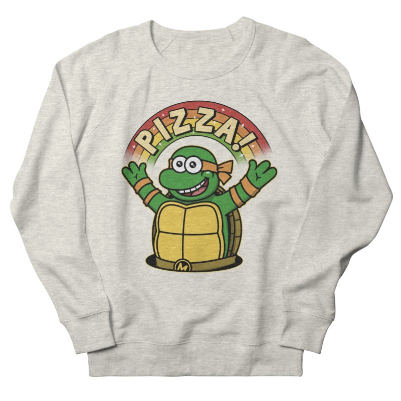 As long as we have Pizza! Men's French Terry Sweatshirt by Pigboom's Artist Shop
