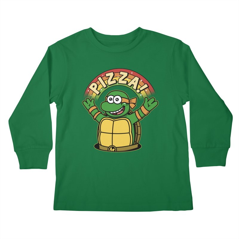 As long as we have Pizza! Kids Longsleeve T-Shirt by Pigboom's Artist Shop