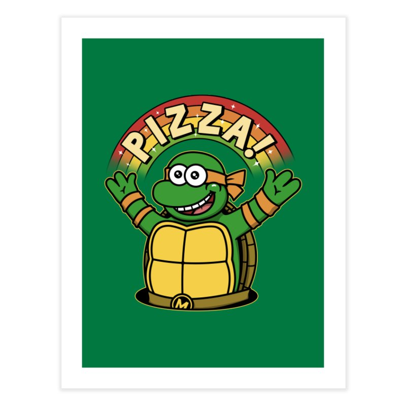 As long as we have Pizza! Home Fine Art Print by Pigboom's Artist Shop